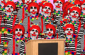 International Panel of Climate Clowns present their latest report.